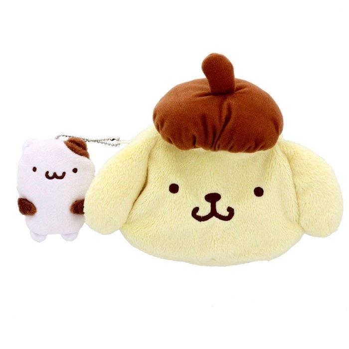 41+現貨免運 挑戰YAHOO最低價 日本正版  my4165 絨毛 造型 化妝包 好友 零錢包 布丁狗