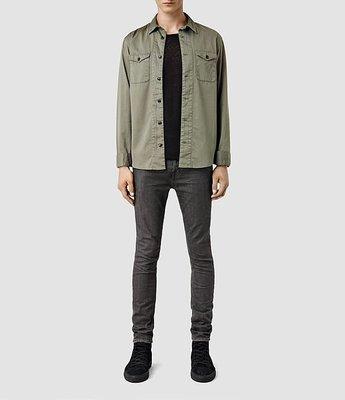 [Allsaints - travolta cigarette grey jeans ]size:28