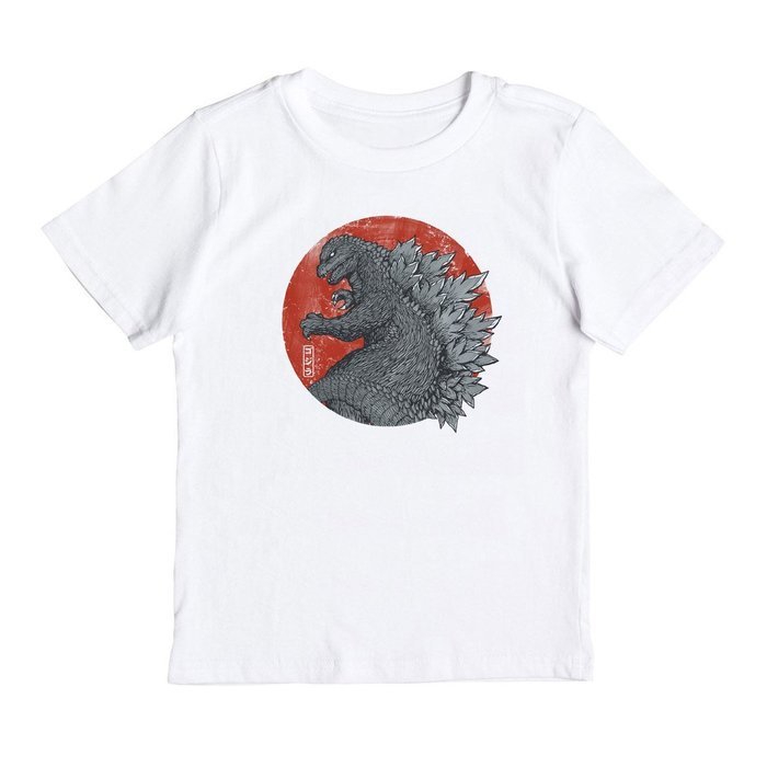 TOKYO KAIJU 兒童短袖T恤 2色 童裝嬰幼 日本 酷斯拉 哥吉拉 GODZILLA 浮世繪 波浪 恐龍 暴龍