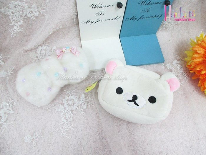 ☆[Hankaro]☆日韓流行可愛卡通造型毛絨化妝包(樣品出清)
