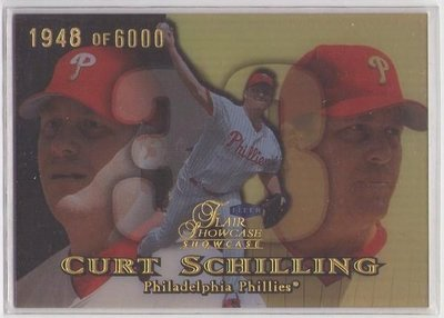 1999 Showcase 紅襪隊 已退休 強投 Curt Schilling  超美亮面折射卡
