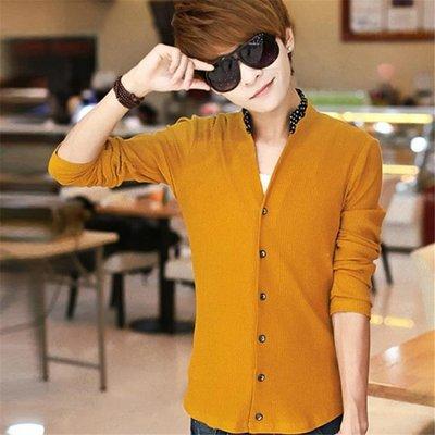 春夏季男士外套青年韓版修身潮流學生長袖毛衣針織衫開衫毛線衣服