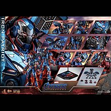 次日普通版 黑色vip折扣訂單  2Aug Hottoys Ironman iron patriot mms547 d34
