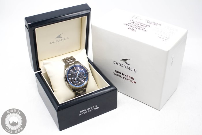 【高雄青蘋果3C】CASIO OCEANUS GPS 電波錶 優雅湛藍碳鈦金 OCW-G1000-1A #52152