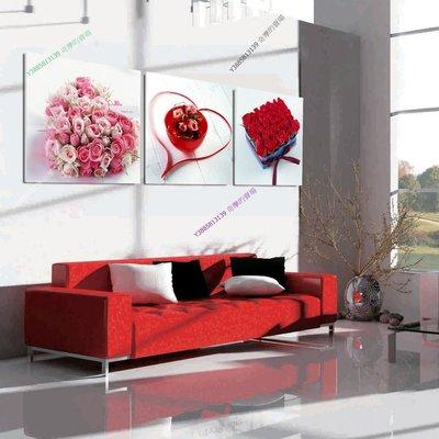 【70*70cm】【厚1.2cm】心形浪漫玫瑰-無框畫裝飾畫版畫客廳簡約家居餐廳臥室【280101_073】(1套價格)
