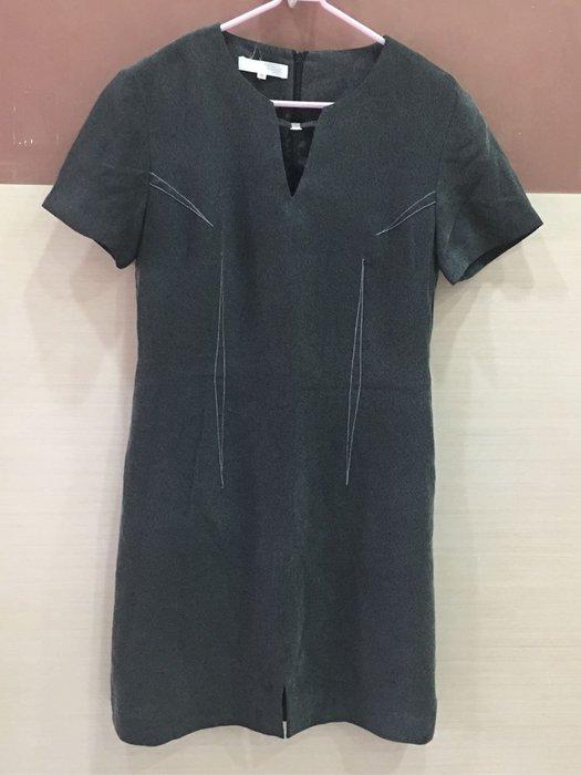 。☆二手☆。菲力雅正品女仕短袖洋裝(10)//鐵灰//便宜出清