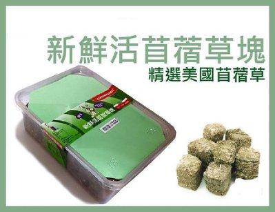 *COCO*MJ萌洲聰明兔新鮮活苜蓿草塊盒裝500g-牧草磚磨牙磚
