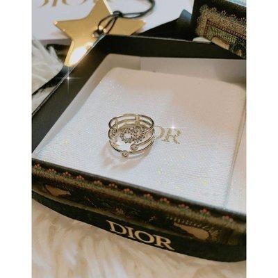 全新專櫃正品 Dior三重閃亮D環戒指R0566SYDCY