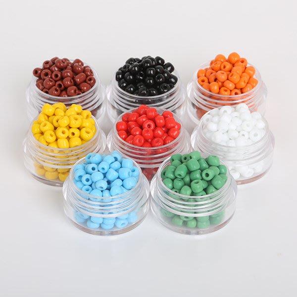 雜貨小鋪 diy飾品 2 3 4MM實色玻璃米珠散珠 十字繡珠子 手鏈項鏈配件材料!十件起購 !