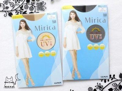 【拓拔月坊】GUNZE 郡是 Mirica 「UV對策」防勾紗 足首著壓褲襪 日本製~現貨!L-LL