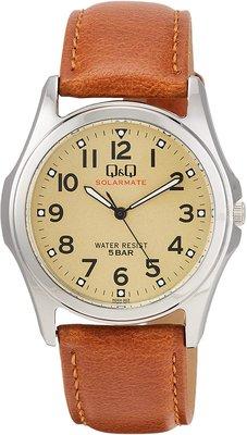 日本正版 CITIZEN 星辰 Q&Q H044-303 手錶 男錶 太陽能充電 皮革錶帶 日本代購