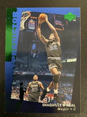 Shaquille O'Neal 1995-96 Upper Deck Predictor #R2 Green
