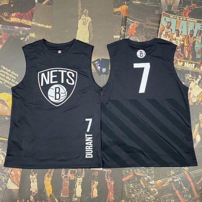 NBA背心職籃球星凱文·杜蘭特(Kevin Durant)7號 布魯克林籃網隊   籃球運動背心  正版