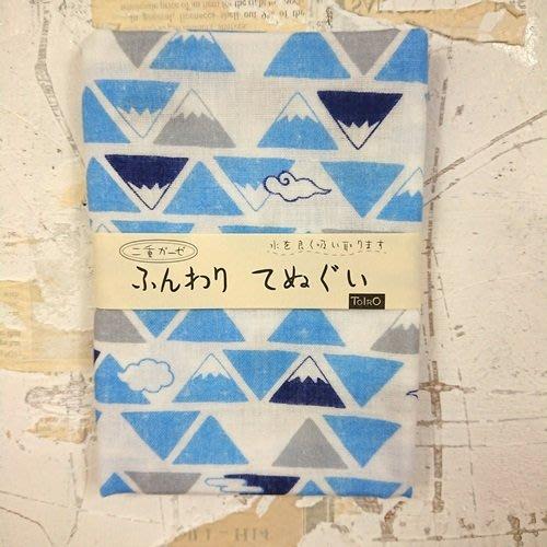 《散步生活雜貨-和雜貨散步》2018 日本製 山本仁商店 雙層紗布織 100%棉 富士山圖案 日式毛巾 手帕
