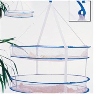 海馬寶寶 雙層可拆式晾衣籃 曬衣籃 晾衣網 可折疊 防風夾加粗鋼絲
