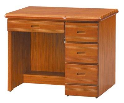 【南洋風休閒傢俱】辦公桌 電腦桌 書桌 寫字桌 主管桌 設計桌 造型桌-樟木3.5尺辦公桌CY451-354