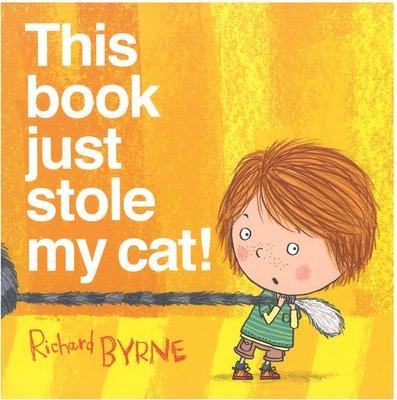 *小貝比的家*THIS BOOK JUST STOLE MY CAT平裝/3~6歲/ 幽默/ 閱讀素養教育