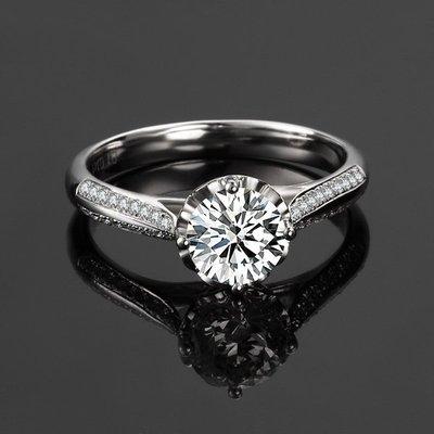 2克拉 經典豪華款18K白金鑽戒(莫桑石 摩星鑽 鑽石 裸石) GIA驗證 鑽石品質