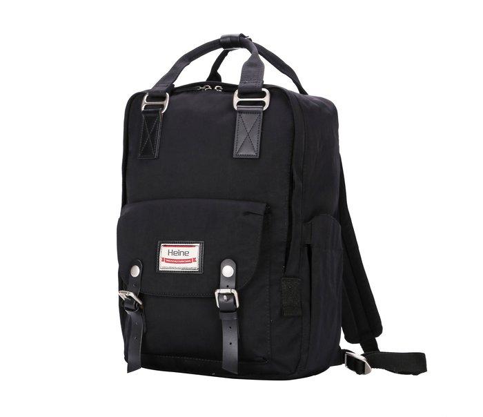 【12H急速出貨】Heine 時尚多功能媽媽包 媽咪包 待產包 尿布包 後背包 雙肩包 外出包 旅行包 大容量-黑色