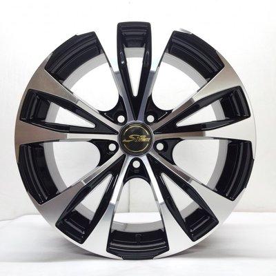 全新鋁圈 wheel S871 16吋鋁圈 4孔100 5孔100 5孔110 5孔112 5孔114.3 亮黑底車面