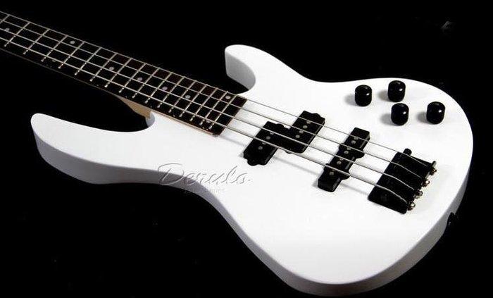 【易發生活館】新品DRL Bass Hero 電貝司 貝斯24品三塊拾音器 貝斯 黑白可選 送朋友禮物