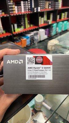 『高雄程傑電腦』AMD Ryzen R5-5600X AM4 腳位 6C12T 3.7G 現貨供應 內附風扇【實體店家】