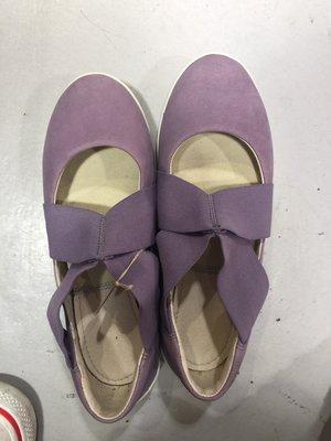 二手購自日本CAMPER專櫃紫色交叉娃娃鞋