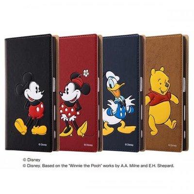 尼德斯Nydus~* 日本正版 Sony Xperia XZ 手機殼 立體翻頁皮套 迪士尼 米奇 米妮 唐老鴨 小熊維尼