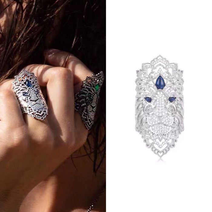 💝(預購)獅子神高端訂製藍眼睛特版戒指💝