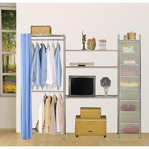 【中華批發網DIY家具】D-64-02-W2型60+90+pp電視衣櫥置物櫃-(前罩)不織布