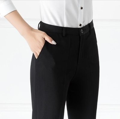 ZIHOPE 西裝褲 西裝褲秋冬黑色直筒褲上班職業褲正裝工作褲工裝修身長褲女西褲女ZI812