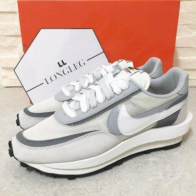 全新正品   现货Sacai x Nike LDV Waffle 白 灰白 白色 聯名 解構 BV0073-100 男女