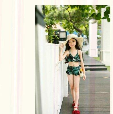 【蘑菇小隊】兒童泳裝女童中大童8韓國10女孩12泳衣13性感15歲比基尼-MG12582