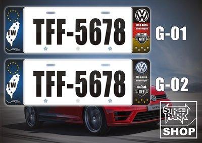【STREET PARK】訂製 歐盟 車牌裝飾 GTI GOLF MK6 MK7【原價780$ 特價 580$】