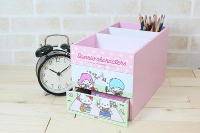三麗鷗吊帶褲桌邊收納盒 Hello Kitty雙子星帕恰狗