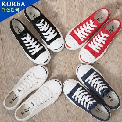 Ovan 男款 韓國開口笑鞋頭素面百搭 帆布鞋