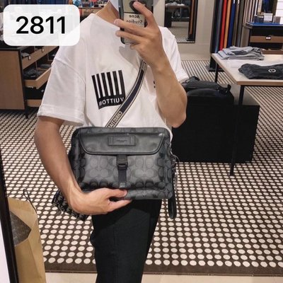 洗洗就碰到過 COACH 2811 美國正品 男士手拎包 休閒手拿包 附購買憑證