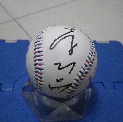 棒球天地---美國大聯盟 MLB 印地安人 李振昌 簽名台灣加油球.字跡漂亮..