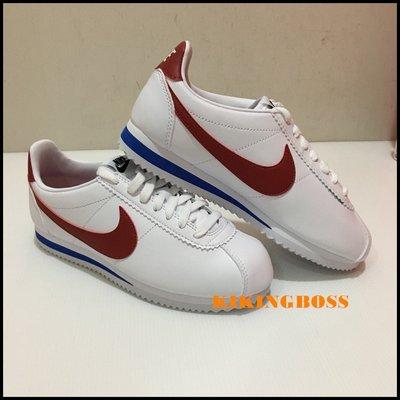 【喬治城】NIKE CLASSIC CORTEZ LEATHER 經典復古鞋 阿甘鞋 紅藍白 807471103