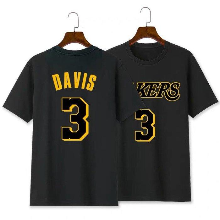 💥戴維斯Anthony Davis短袖棉T恤上衣💥NBA湖人隊Adidas愛迪達運動籃球衣服T-shirt男裝963