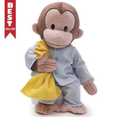 預購 美國帶回 Gund 正品 Curious George 可愛睡衣好奇猴喬治 絨毛玩偶 娃娃 寶寶最愛 生日禮