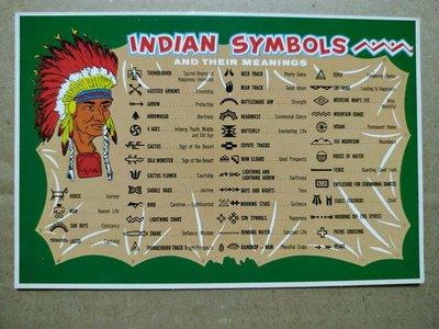 indian symbols印第安符號明信片