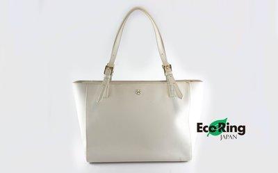 [Eco Ring HK]*Tory Burch Tote Bag Leather White*Rank B-207002950-
