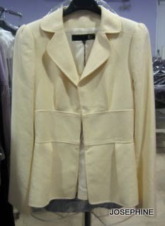 喬瑟芬【JUST CAVALLI】3折出清($9800含運)~嫩黃色 蓬袖收腰析裝外套(40號)