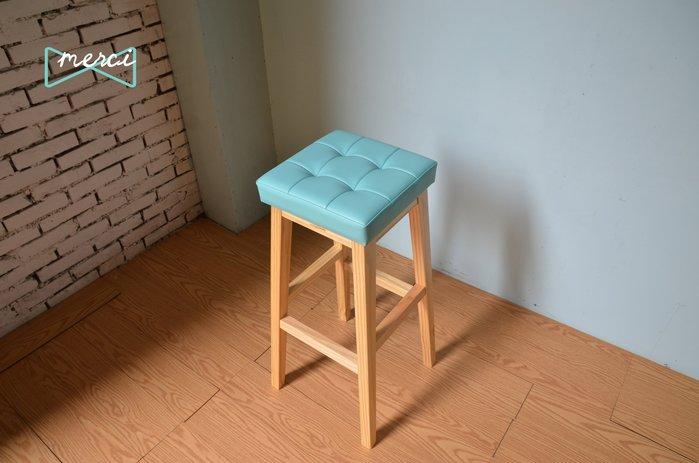 美希工坊JAN-PON吐司吧台椅/中島椅/吧台椅/ tiffany 皮革/沙發坐感/原木椅架
