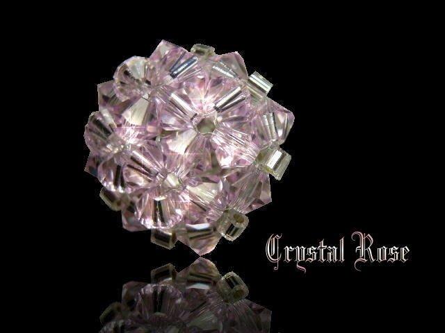 ※水晶玫瑰※ SWAROVSKI 水晶戒指~淺玫瑰粉(HAND16)