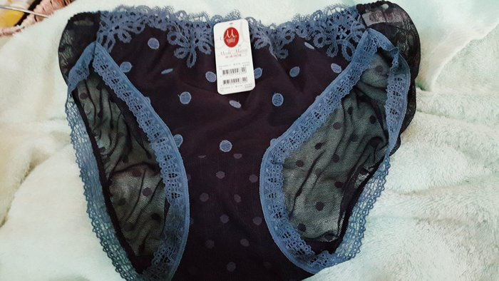 轉售楊謹華代言【曼黛瑪璉]輕吻BRA 低腰三角無痕網褲(星炫紫)(XL)原價480元
