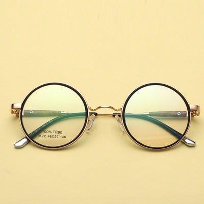 眼鏡 框 圓框 鏡架-韓版復古潮流時尚男女平光眼鏡6色73oe24[獨家進口][米蘭精品]