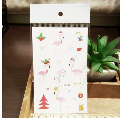 【萌古屋】火鶴的聖誕節 - 男女防水紋身貼紙刺青貼紙 K29