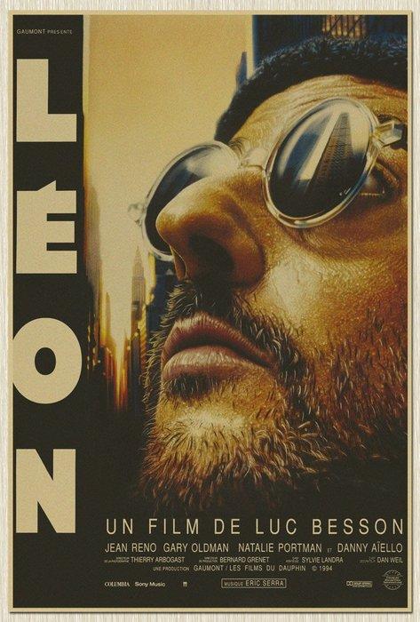 【貼貼屋】終極追殺令 L'eon 懷舊復古 牛皮紙海報 壁貼 店面裝飾 經典電影海報 409